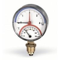 Термоманометр радиальный F+R828 80 мм (0-4 бар) Watts