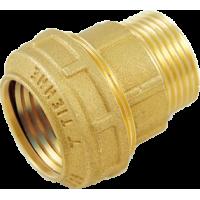 """3460W Tiemme Муфта с наруж.резьбой ISO228, с латунным кольцом 20 x 1/2"""""""