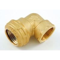 "3465W Tiemme Уголок с внутр. резьбой ISO228, с латунным кольцом 25 x 3/4"""