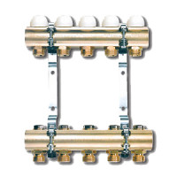 """Купить 3866 Распределительный коллектор Tiemme для радиаторов 6x3/4"""" (Евроконус) суперцена!"""