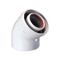 Коаксиальный отвод полипропиленовый 45° 110/160 мм, Baxi