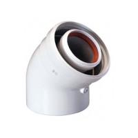 Коаксиальный отвод полипропиленовый 45°,60/100 мм, Baxi