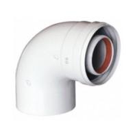 Коаксиальный отвод полипропиленовый 87° 110/160 мм, HT