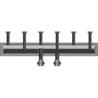 Коллектор из нержавеющей стали на 3 отопительных контура (длина=750 мм)