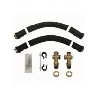Комплект гибких присоединительных труб для настенного монтажа насосной группы