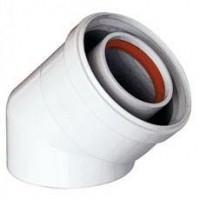 Отвод 45° алюминиевый эмалированный, диаметр 80 мм