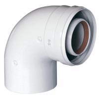 Отвод 90° алюминиевый эмалированный, диаметр 80 мм
