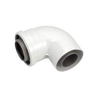 Отвод 90° для труб 60/100 мм