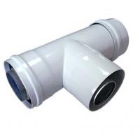 Отвод прямоугольный ф 60/100 мм /О1