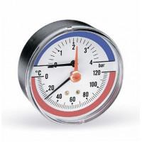 Термоманометр аксиальный F+R818 80 мм (0-4 бар) Watts