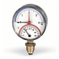 Термоманометр радиальный F+R828 80 мм (0-10 бар) Watts