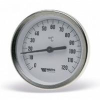 Термометр биметаллический F+R801 OR, 63 мм, 0 - 160°c, Watts